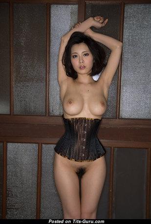 China Matsuoka - Superb Brunette with Superb Naked C Size Boobs (Hd 18+ Photo)