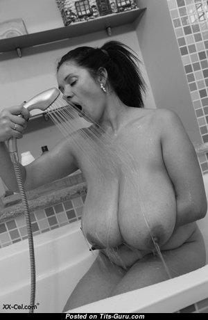 Magnificent Topless & Glamour Babe with Large Nipples in the Shower (Hd Sex Photoshoot)