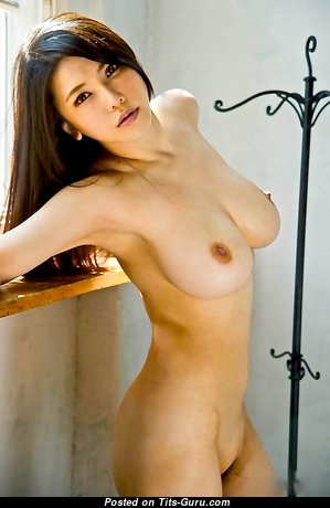 Anri Okita - The Nicest Glamour & Topless Japanese, British Brunette Pornstar with The Nicest Nude Real Med Titty & Large Nipples (Hd Porn Photo)