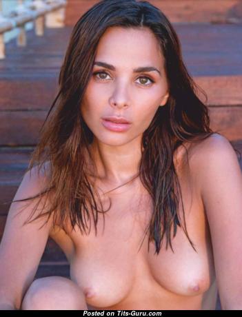 Carolina Impu - Superb Topless Playboy Miss with Superb Nude Natural Boobs & Tan Lines (Porn Wallpaper)