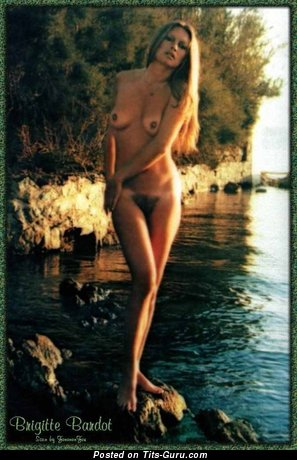 Brigitte Bardot - Gorgeous French Blonde with Gorgeous Naked Real Tiny Chest (Vintage Xxx Image)