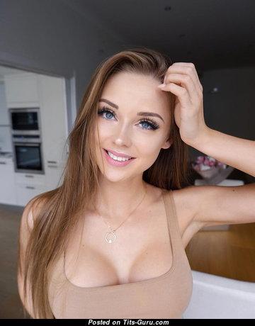 Jane Makova - Splendid Actress with Splendid Naked Dd Size Titties & Puffy Nipples is Doing Fitness (Porn Wallpaper)