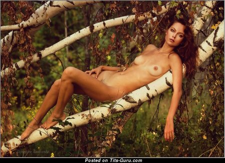 Image. Naked beautiful woman with medium tittes picture