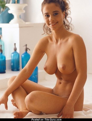 Naked amazing woman with natural tittys photo