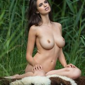 Brunette with big natural tittes picture