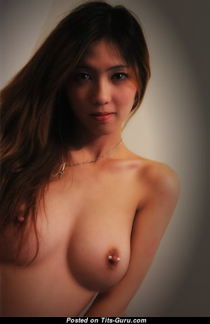Anna - The Best Glamour & Topless Asian Babe with The Best Bare Real C Size Busts, Giant Nipples, Piercing (Home Selfie 4k Sex Foto)