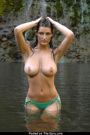 Magnificent Babe with Pleasing Nude Real Med Boobies (Xxx Pic)