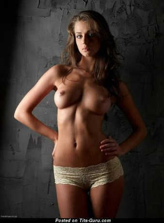 Naked beautiful woman with medium natural boobies picture
