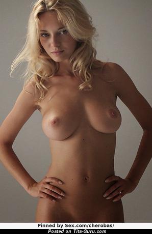 Natali Nemtchinova - topless blonde with medium natural tots pic