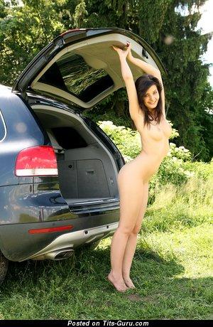 Image. Naked beautiful girl with medium natural boob image