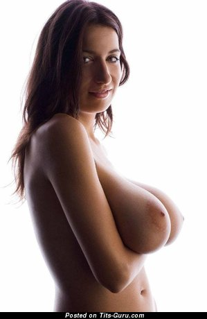 Jana Defi - Pretty Czech Brunette with Pretty Nude Real Giant Titties (18+ Photo)