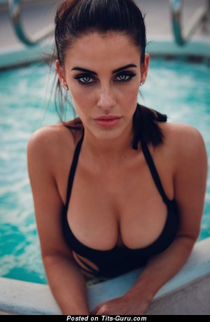 Jessica Lowndes - Cute Brunette Actress & Singer with Cute Defenseless Real Mid Size Boobie in Bikini in the Pool (Hd Xxx Pix)