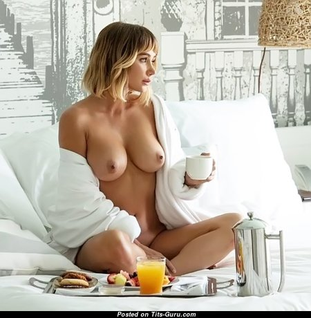 Beautiful Babe with Beautiful Nude Real D Size Breasts (18+ Image)