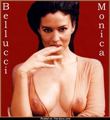 Image. Monica Bellucci - nude nice woman with medium natural boobs photo