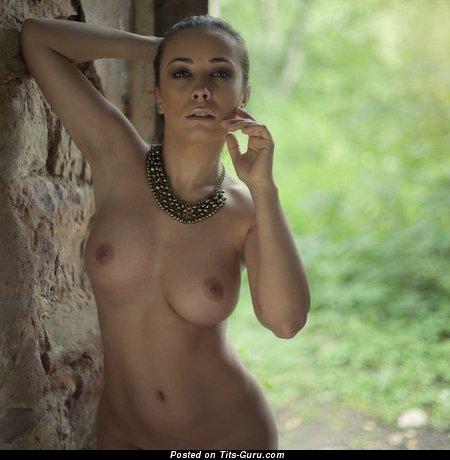 Image. Nude hot lady with natural tits photo