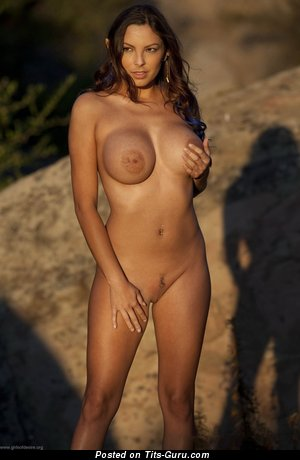 Sisicole - naked brunette with big boob photo