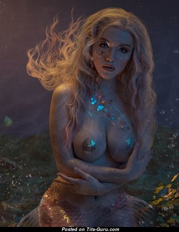 Magnificent Unclothed Floozy with Large Nipples (Xxx Image)