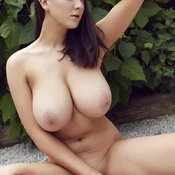 Sexy topless beautiful girl with big natural tittes picture
