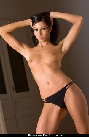 Fascinating Topless Brunette with Fascinating Defenseless Paltry Melons (Hd Xxx Image)