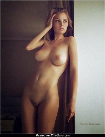 Arkadiy Kozlovskiy - The Best Brunette Babe with The Best Defenseless Medium Boobie (Sexual Photo)