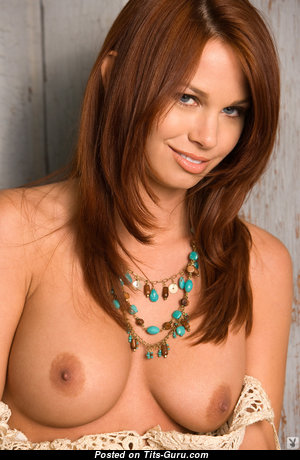Aj Alexander - Fine Glamour & Topless American Playboy Brunette with Hot Bare Silicone Tits & Red Nipples (Hd Xxx Pic)