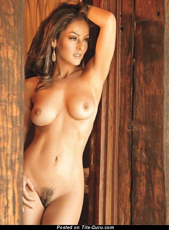 Andrea Garcia - naked latina with medium natural tittys photo