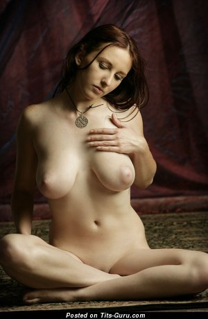 Image. Sarah - brunette with big natural boobs and big nipples image