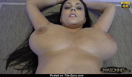 Image. Ewa Sonnet - sexy naked brunette with big natural boob photo