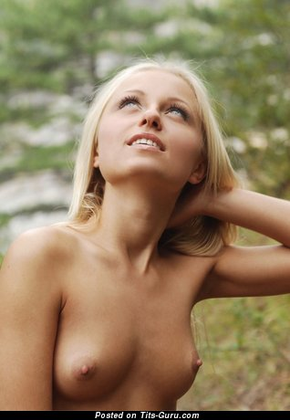 Image. Nude beautiful girl with medium natural boobies picture