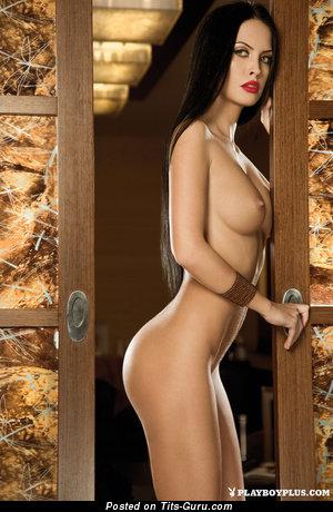 Eleni Corfiate - Fine Romanian Brunette with Fine Open Mid Size Hooters (18+ Picture)