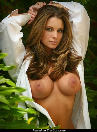Image. Ashley Kimel - nude brunette with big fake boobies and big nipples photo