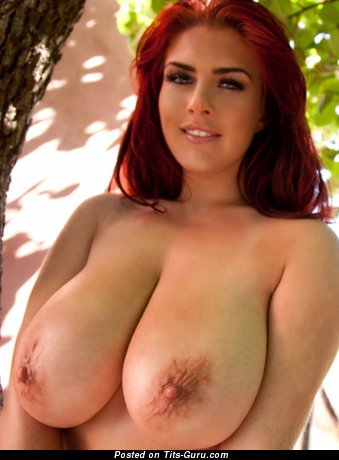 Robyn Alexandra - sexy topless red hair with big nipples image