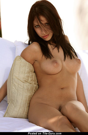 Image. Naked nice girl with medium natural breast image