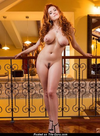 Image. Naked beautiful girl with natural breast pic