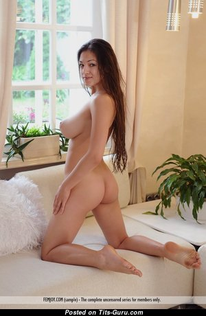 Maria Antsibonenko (aka Sofi A.) - Graceful Glamour Brunette with Graceful Exposed Real Mid Size Knockers & Big Nipples (Hd Porn Photoshoot)