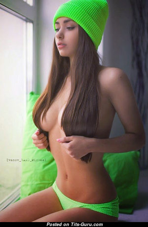 Helga Lovekaty - Grand Topless Russian Brunette Babe with Grand Naked Natural Full Tit & Large Nipples (18+ Pix)