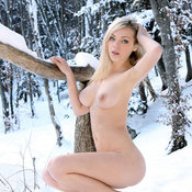 Wonderful female with medium natural tittys photo