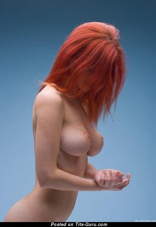 Delightful Red Hair with Delightful Exposed Substantial Tits (Sexual Pic)