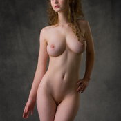Awesome woman with big natural boob image