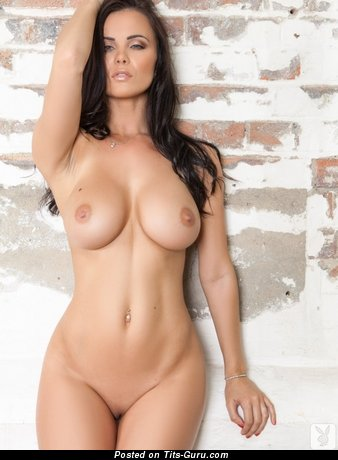 Image. Brunette with big boob and piercing picture