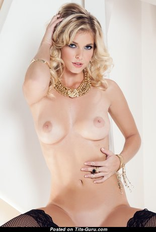 Victoria Winters - Pretty American Playboy Blonde with Pretty Exposed Natural Dd Size Busts in Stockings (Hd Xxx Image)