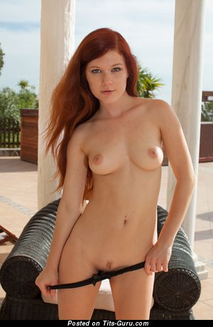 Image. Sexy naked red hair with small boobs photo