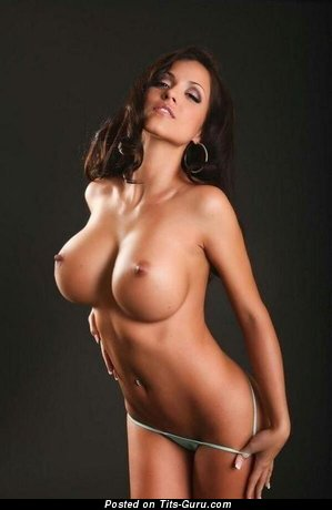 Image. Nude amazing lady with big fake tittes photo