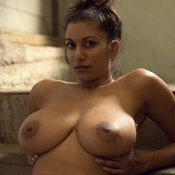 Awesome woman with big natural boobs image