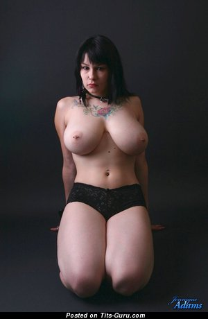 Image. Jennique Adams - sexy naked brunette with big natural boob image