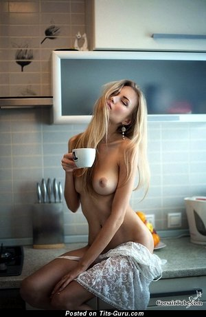 Image. Alena Amoralov - nude blonde with medium natural tittes photo