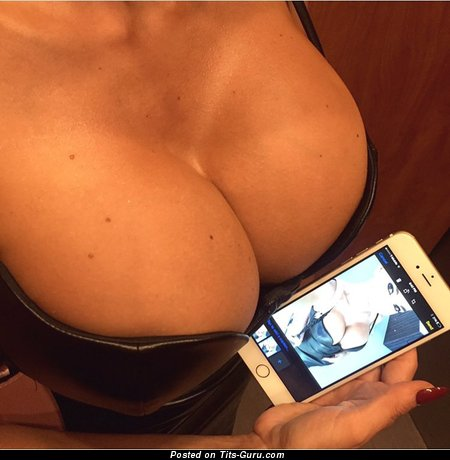 Image. Amateur naked hot lady with big fake breast picture