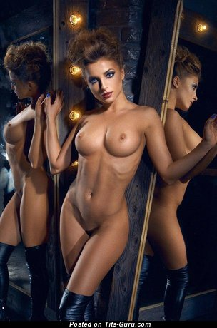 Image. Nude wonderful female with medium fake tittes image