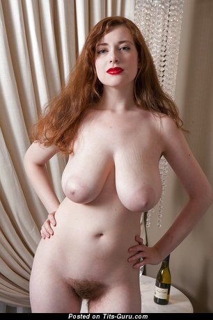 Image. Misha Lowe - nude red hair with huge natural tots photo