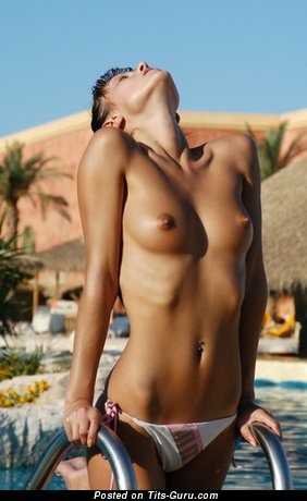 Image. Naked nice woman with small natural tittes photo